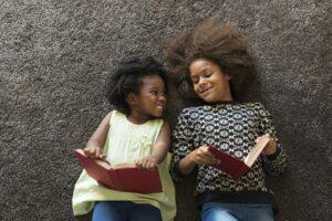 African children reading books