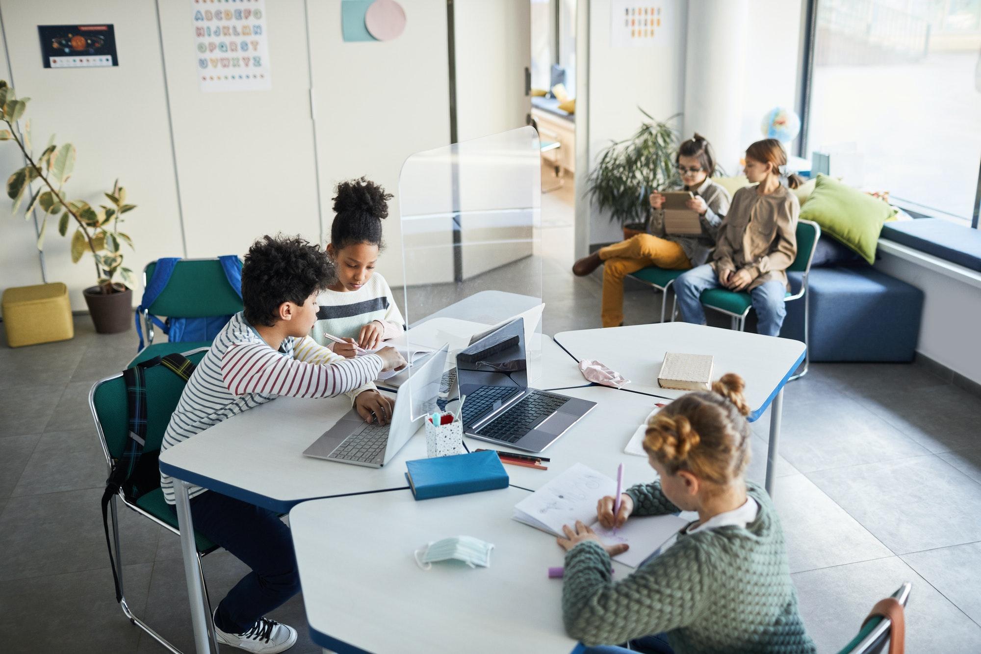 Children Studying Together
